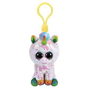 TY Flippable Sequin Key Clip Pixie the Unicorn