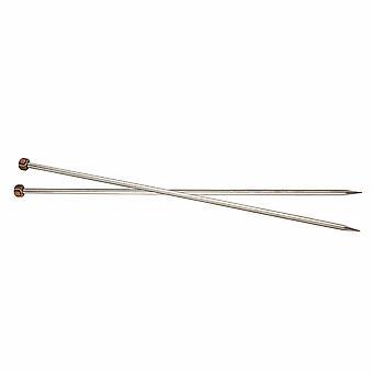 KnitPro Nova Metal: Strikkepinner: Enkeltsluttet: 35cm x 12.00mm