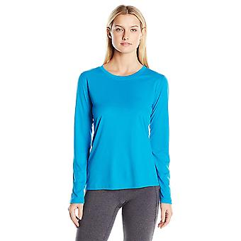 Hanes Women's Sport Cool Dri Performance Long Sleeve, Underwater Blue, Size 2.0