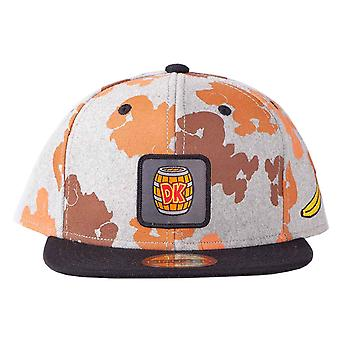 Donkey Kong Baseball Cap All Over Print new Official Nintendo grey Snapback