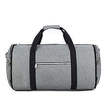Weekendtaske og tøjtaske med skulderrem, grå