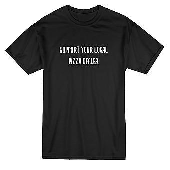 Soutenir votre Pizza locale concessionnaire devis T-shirt homme