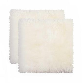 """17"""" x 17"""" x 2"""" Silla de piel de oveja natural - Cubierta del asiento 2 uds."""