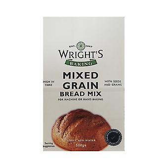 Wrights Bakning Wrights blandade korn bröd Mix 500g X 5 Förpackningar