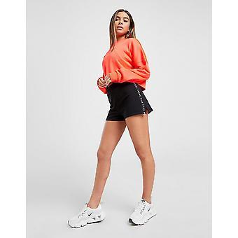 Nieuwe Pink Soda Sport Women's Tape Shorts Zwart