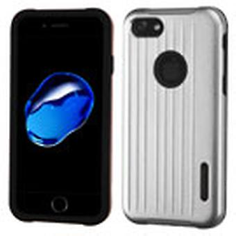 Asmyna Carry-On Hybrid Protector Case for Apple iPhone 8/7 - Silver/Black