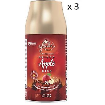 3 x Glade Automatic Spray Refill 269ml - Spiced Apple Kiss
