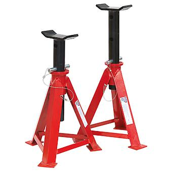 Sealey As7500 Axle Stands 7.5Tonne Cap Per Stand 15Tonne Per Pair Medium Height