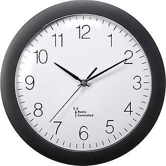 Basetech 1555968 Radio Wall clock 300 mm x 56 mm Black