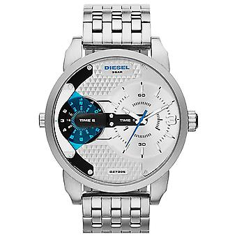 Diesel DZ7305 Mini Daddy Sport Round Multi Dial S-Steel Silver Men's Watch