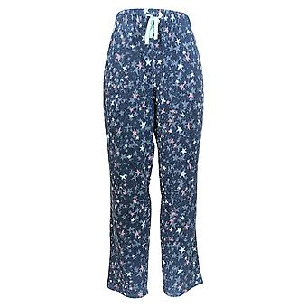Cuddl Duds Women's Petite Pajama Pants Fleecewear Stretch Blue A371298