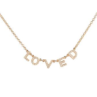 Hield choker ketting Rose Gold Word letters gift Gemstone vrouw 925 Sparkle
