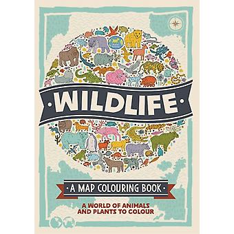 Wildlife A Map Colouring Book by Hughes & NatalieSchrey & Sophie