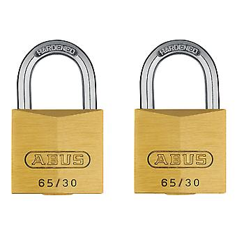 ABUS 65/30mm Brass Padlock Twin Carded ABU6530TC