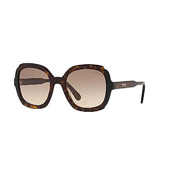 Prada SPR16U 3913D0 Havana-Black/Brown Gradient Sunglasses