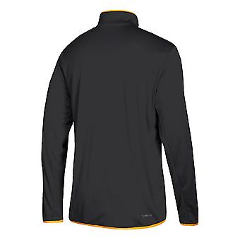 Adidas Nhl Pittsburgh Penguins Climalite Quarter-zip Pullover Jacket