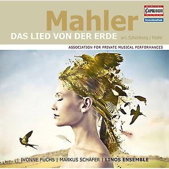 Mahler / Fuchs / Schaefer / Linos Ensemble - Lied Von Der Erde (Arr. by Schoenberg & Riehn) [CD] USA import