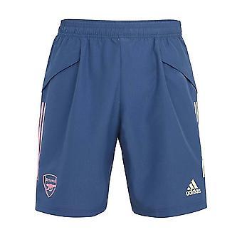 2020-2021 Arsenal Adidas Woven Down Time Shorts (Indigo)