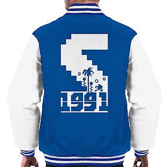 Sonic The Hedgehog 1991 Pixel Graphic Men's Varsity Jacket