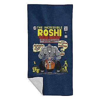 The Incredible Roshi The Strongest Old Man Dbz Beach Towel