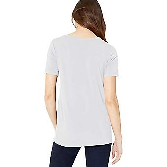 Marque - Daily Ritual Women's Jersey Short-Sleeve Scoop Neck Shirt, Whi...