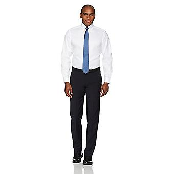 BUTTONED أسفل الرجال & ق الكلاسيكية صالح زر ذوي الياقات البيضاء الصلبة غير الحديد اللباس قميص (لا ...