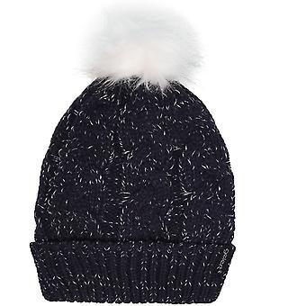 Gelert Twist Lurex Pompom Hat Ladies