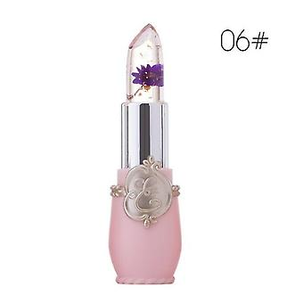 Transparent Jelly Flower Lipstick - Temperature Color  Waterproof  Lipstick