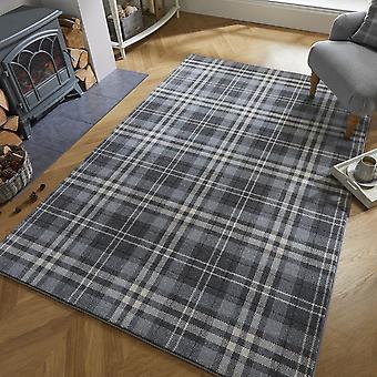 Loch Kilbirnie tartan controleren tapijten in Zilvergrijs