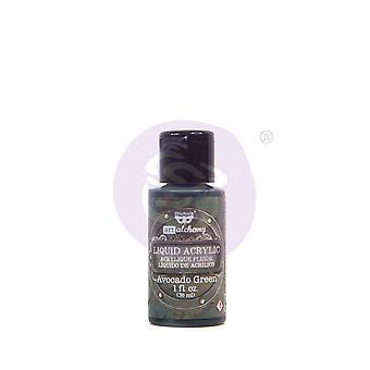 Finnabair Art Alchemy Liquid Acrylic Paint Avocado Green