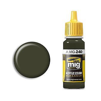 Ammo by Mig Acrylic Paint - A.MIG-0240 FS 34086 (ANA 613) Dark Green Drab (17ml)