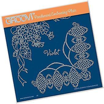 Plaque carrée Groovi Violet A5
