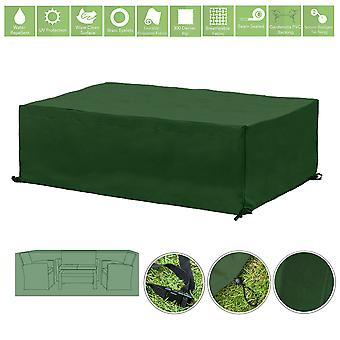 Protection de couverture de meubles extérieurs résistants à l'eau verte pour petit ensemble de sofa de jardin