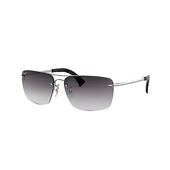 Ray-Ban RB3607 003/8G Silver/Grey Gradient Dark Blue Sunglasses