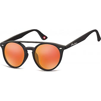 Sunglasses Unisex panto matt black/orange (MS49)