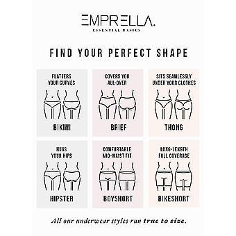 Emprella Womens Underwear Bikini Panties Cotton/Spandex - 6 Pack Colors and P...