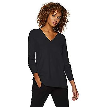 العلامة التجارية - Lark & Ro Women's Long Sleeved Double V-Neck سترة,...