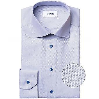 Eton zeitgenössische Fit Zic-Zac Print Shirt