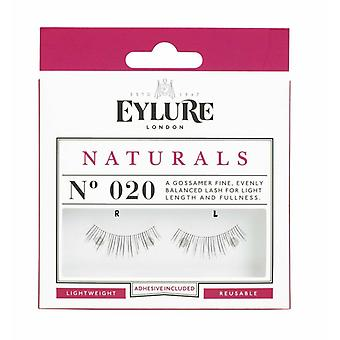 Eylure Naturals Lightweight Black False Lashes - 020 - Lash Adhesive Included
