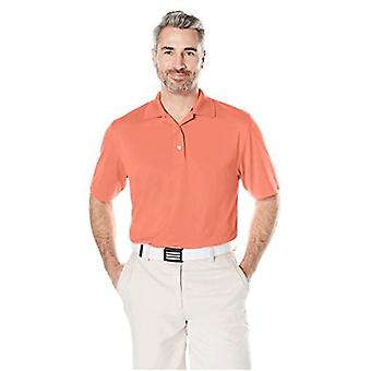 Essentials Men's Regular-Fit Quick-Dry Golf Polo Shirt, Coral, XX-Large