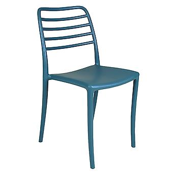 Charles Bentley 2 Seater Plastic Weather-resistant Durable Outdoor Bistro Set Easy to Clean Stylish - Blue