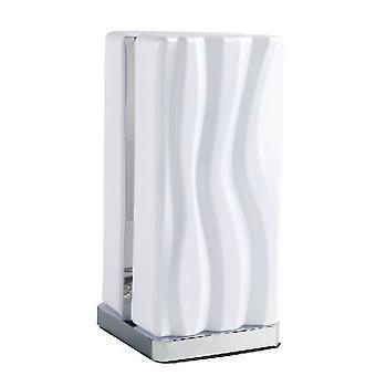 Tafellamp 8W LED Wit IP20 3000K, 1080lm, Gepolijst chroom, wit acryl