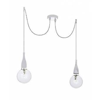 Ideal Lux Minimal - 2 lekkie sufitowe wisiorek biały, E27