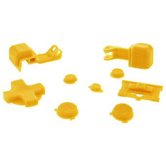 Zedlabz replacement button set for nintendo game boy advance sp gba handheld - yellow