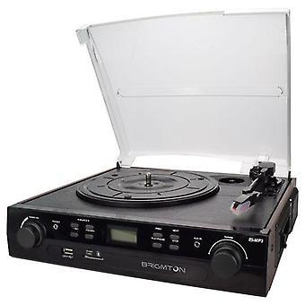 Record Player + Cassette Recorder BRIGMTON BTC-406REC USB SD / MMC