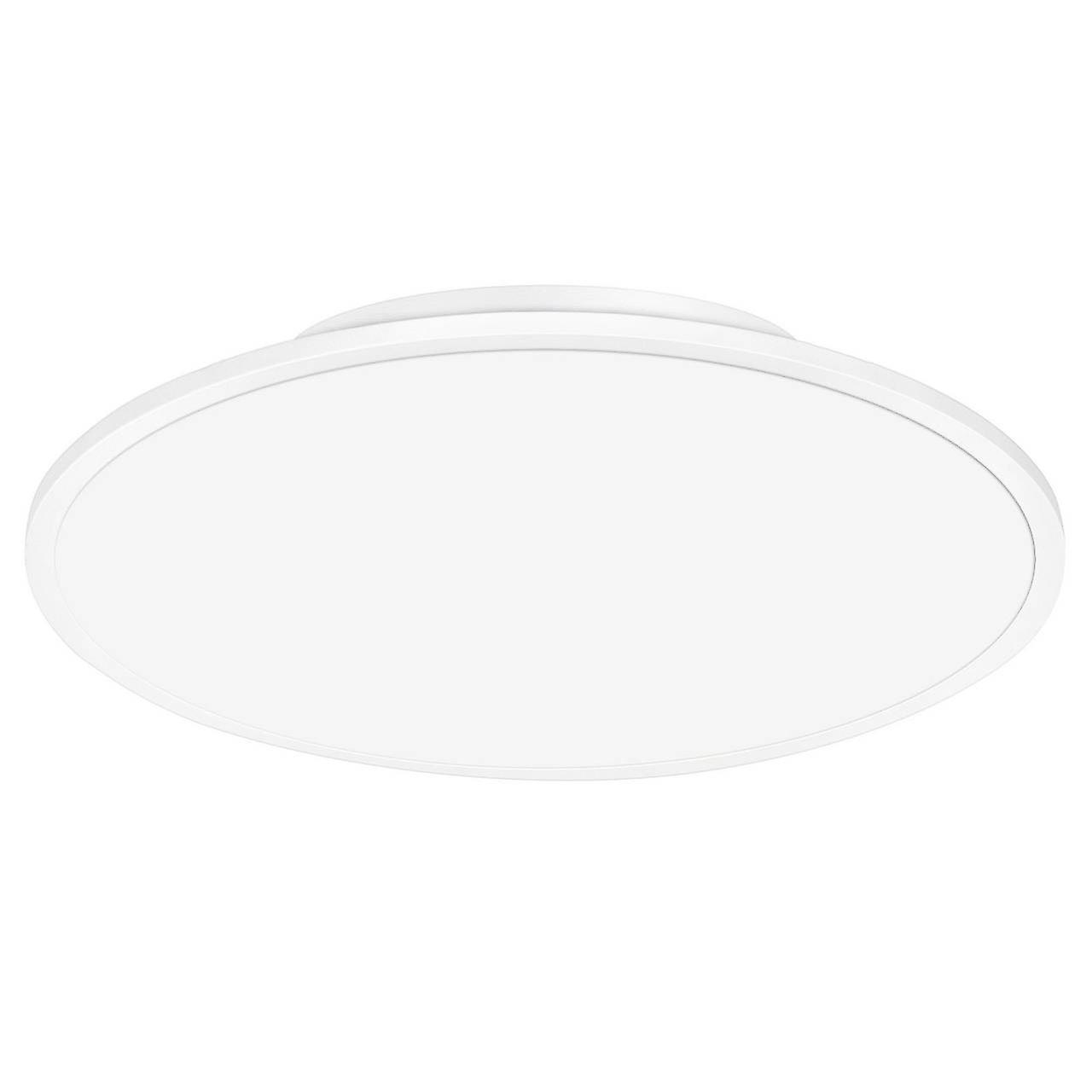 BRILLIANT Lampe Ceres LED Deckenaufbau-Paneel 45cm weiß easyDim | 1x 30W LED integriert, (3000lm, 3000K) | Skala A++ bis E | EasyDim: dimmbar mit herkömmlichen Lichtschaltern