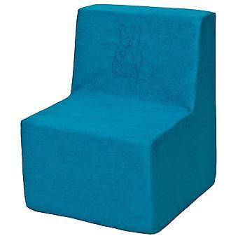 Sedia alta schiuma blu