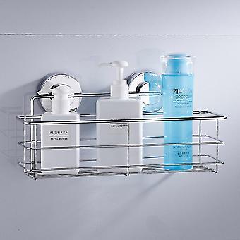 Rustfrit stål Hylder Badeværelse Bruser-Wall Mount Shelf Shampoo Holder Basket (krom)