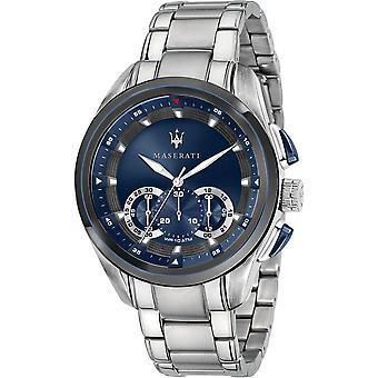 Maserati R8873612014 Traguardo Chronograph Quarz Blau Zifferblatt Herren's Uhr