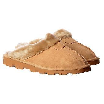 Onlineshoe luxe bont gevoerde slip op mule slippers
